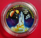 Atlantis STS 135 the last shuttle launched Colorized Kennedy Half Dollar
