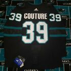 San Jose Sharks Authentic adidas Black Home Stealth Jersey Logan Couture Size 50