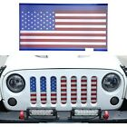 American Flag Front Grille Mesh Insert For 2007 2018 Jeep Wrangler JK Unlimited