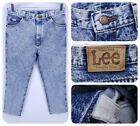 Vintage LEE STORM RIDER 34 x 27 Actual Acid Wash Jeans Mens Union Made USA