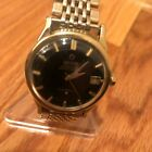 Vintage Omega Constellation Pie Pan Black Dial Solid Gold Plated Observatory