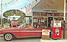 Lakeland FL Florida Southern College Texaco Gas Station Old Car Postcard