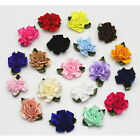 12 50pcs Small Satin Ribbon Carnation Flower Appliques craft Wedding decoration