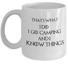 Funny campers Game of Thrones RV caravan gift I go camping and i know things