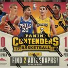 2017-18 Panini CONTENDERS NBA Basketball HOBBY BOX Factory Sealed New 2 AUTO
