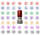 Initial Stamp Self Inking with 1 or 2 Custom Letters 8 colors Round 14mm Stamper