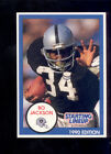 1990 Kenner SLU Starting Line Up BO JACKSON Oakland Raiders Card