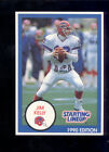1990 Kenner SLU Starting Line Up JIM KELLY Buffalo Bills Card