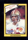 1990 Kenner SLU Starting Line Up JOE MONTANA San Francisco 49er Rookie Year Card