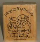 Stampin Up Rubber Stamp Friend to Friend Little Girls Nice  Easy Notes