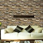 3D Wall Paper Brick Stone Rustic Effect Self adhesive Wall Sticker Home Decor