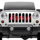 For Jeep Wrangler 1987 1995 Dirty Acres 1 Pc Redrum Style Perforated Main Grille