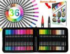 Dual Tip Brush Pens Markers 36 Color Set With Canvas Organizer