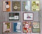10 Handmade Thank You greeting cards envelopes Stampin Up +more