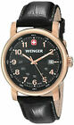 Wenger 01.1041.108 Mens Swiss Urban Classic Stainless Rose Gold Leather Watch