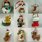 DOG ORNAMENTS each priced separately MANY CHOICES Puppy Pet Canine Beagle Poodle
