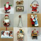 SANTA ORNAMENTS Each priced separately MANY CHOICES Claus St Nicholas Kringle