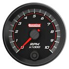 Quickcar Racing Redline 2-58 Single-recall Tachometer Gauge Black 10000 Rpm
