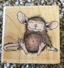 Stampabilities HOUSE MOUSE Rubber Stamp CONTENTED MUDPIE Sleeping Happy