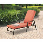 Chaise Lounge Chair Pool Patio Outdoor Furniture Cushion 5 Adjustable Positions