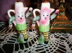 VINTAGE ANTHROPOMORPHIC COFFEE POTS SALT AND PEPPER SHAKERS
