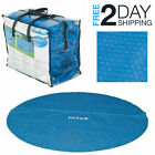 16ft Round Solar Pool Cover Above Ground Outdoor Swimming Debris Winter Protect
