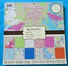 Recollections Summer Garden Paper Stack 12 x 12 Scrapbook Pad DCWV