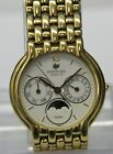 Men's Raymond Weil Geneve Fidelio 2000 Moon Phase 18K Gold Electroplated Watch