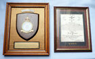 RARE BATTLE OF BRITAIN RCAF COMMEMORATIVE PLAQUE CANADIAN FLYING OFFICER KIA
