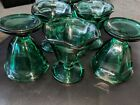 Anchor Hocking Vintage Parfait Cups Green smaller size great condition