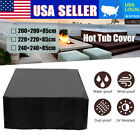 SPA Hot Tub Cover Cap Anti UV Heat resistant Protector With Spring Stoppers US