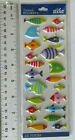 Sticko FISH Package of Multi Sizes of Puffy Colorful Fish Stickers See Ruler