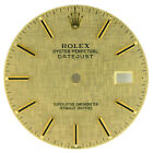 NEW ROLEX OYSTER PERPETUAL DATEJUST MENS GOLD LINEN STICK DIAL FOR 36MM 16013
