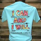 Southern Chics I Can and I Will Arrows Comfort Colors Girlie Bright T Shirt