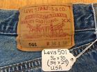 LEVIS 501 Vintage Button Fly Jeans 36x30 34x29 USA