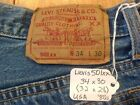 LEVIS 501xx Vintage Button Fly Jeans 34x30 32x28 USA 80s