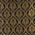 Essentials Tapestry Jacquard Upholstery Drapery Black Gold Fabric