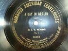 Columbia Hamburg American Travelogues 78 rpm A Day in Berlin Parts 1