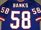 VTG AUTHENTIC 90's CARL BANKS NEW YORK GIANTS NFL RUSSELL JERSEY 52 (ORIGINAL)