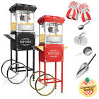 Vintage Style Popcorn Machine Maker Popper with Cart and 6 Ounce Kettle