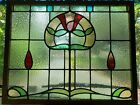 HUGE ANTIQUE ENGLISH STAINED GLASS WINDOW