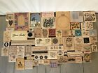 WOOD STAMP LOT 65 MISC WOOD STAMPS FLOWERS ALL OCCASIONS STAMPIN UP+