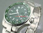 Parnis 43mm GMT-MASTER II Automatic mens Green Dial sapphire glass Watch 1464