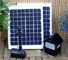 Solar Pond Fountain Water Pump W Battery Timer Light Combo Kits 10 20W