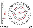 Hendler Rear Sprocket 32 Teeth (1910-32) Aeon Cobra 220 2005-2010