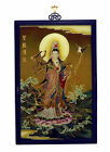Superb Vintage Chinese Buddhist Reverse Glass Painting Hanging Plaque