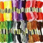 7.5cm Multi Colors Cross Stitch Cotton Embroidery Thread Floss Sewing Skein Z4A7