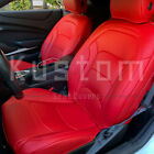 For 16 Up Camaro Coupe  Custom Fit RED Interior Leather Seat Covers Protector