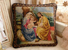 14 Artistic Hand Crafted Retro Birth of Jesus Tapestry Needlepoint Pillow Cover