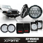 7 75W CREE LED Headlights Turn Signal Side  Taillight Combo for 07 18 Jeep